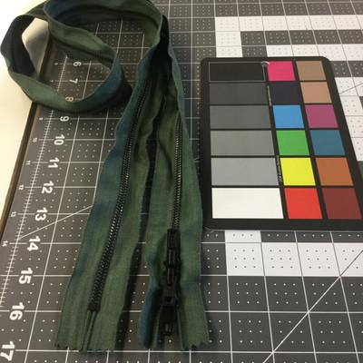 """50"""" Metal Zipper - 3 pulls   Sage Green   Military Repair   Duffel Bag"""