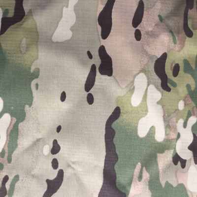 Green Camo   Nylon Gore-Tex Fabric   Waterproof Outdoor Apparel / Bags   54 Wide   By the Yard