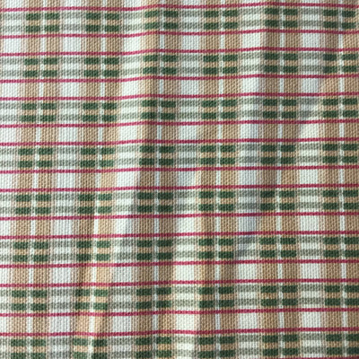 """Plaid Brown / Green / Red   Home Decor Fabric   Richloom   54""""  Wide   BTY"""
