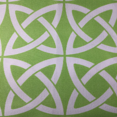 """Lime Green / White Links   Indoor / Outdoor Fabric   54""""  Wide   By the Yard"""