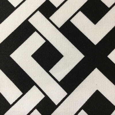 """Black and White Lattice Geometric   Home Decor Fabric   54""""  Wide   By the Yard"""