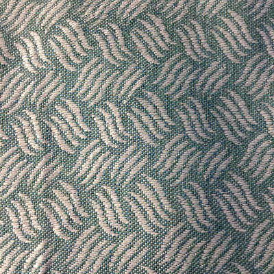 Teal / White Geometric   Slipcover / Upholstery Fabric   54 Wide   By the Yard