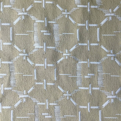 Contemporary Geometric | Beige / Tan | Heavyweight Upholstery Fabric | 54 Wide