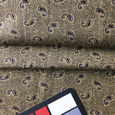 Brown Paisley Flourish | Slipcover / Upholstery Fabric | 54 Wide | By the Yard