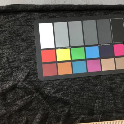 charcoal heathered sweater knit fabric