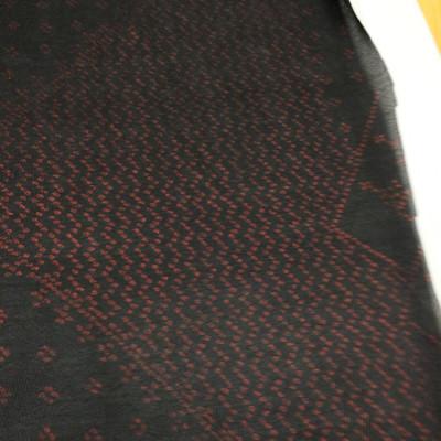 black and red metallic dots mesh fabric