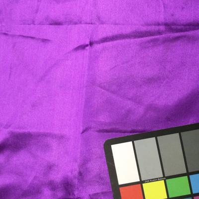 bright purple poly satin fabric