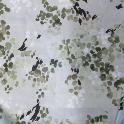 sage green abstract dotted chiffon fabric