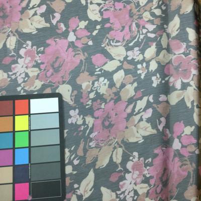 magenta print drapery fabric