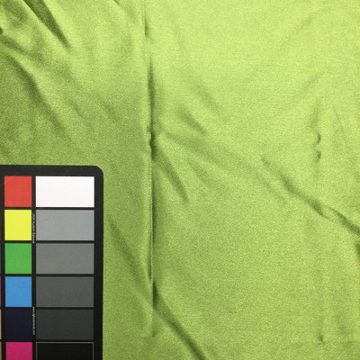 chartreuse green poly satin fabric