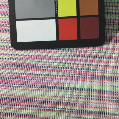 rainbow stripe knit jersey fabric