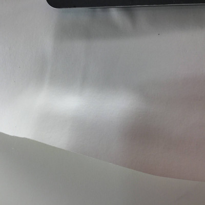 2.05 Yard Piece of Satin Finish Vinyl Fabric | Smooth Pearly White | Upholstery / Bag Making | 54 Wide