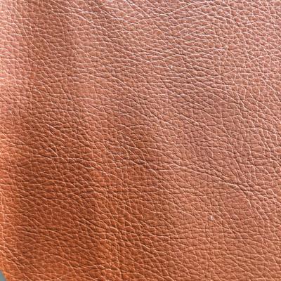 2.17 Yard Piece of Faux Leather Vinyl Fabric | Burnt Orange Medium Grain | Felt-Backed | Upholstery / Bag Making | 54 Wide