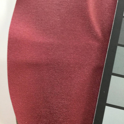 1.8 Yard Piece of Satin Finish Vinyl Fabric   Dark Red   Upholstery / Bag Making   54 Wide