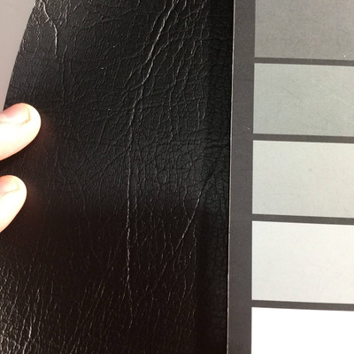 1.05 Yard Piece of Faux Leather Vinyl Fabric   Ebony Black Heavy Grain   Upholstery / Bag Making   54 Wide