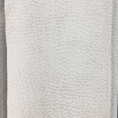 2.8 Yard Piece of Faux Leather Vinyl Fabric |  Matte Off-White Medium Grain | Felt-Backed | Upholstery / Bag Making | 54 Wide