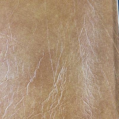1.67 Yard Piece of Faux Leather Vinyl Fabric | Dark Tan Medium Grain | Upholstery / Bag Making | 54 Wide