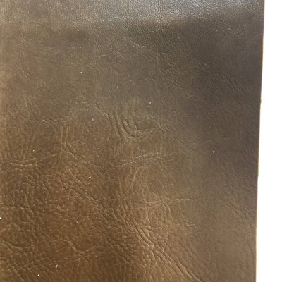 4.3 Yard Piece of Faux Leather Vinyl Fabric | Brown Medium Grain | Felt-Backed | Upholstery / Bag Making | 54 Wide