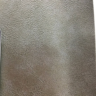 1.8 Yard Piece of Faux Leather Vinyl Fabric   Nickel Gray Highly Textured   Upholstery / Bag Making   54 Wide