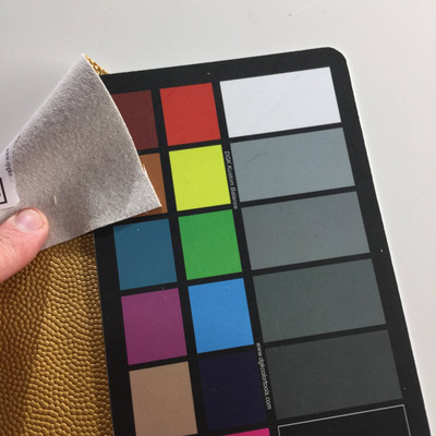 1.17 Yard Piece of Faux Leather Vinyl Fabric | Shiny Gold Highly Textured | Upholstery / Bag Making | 54 Wide