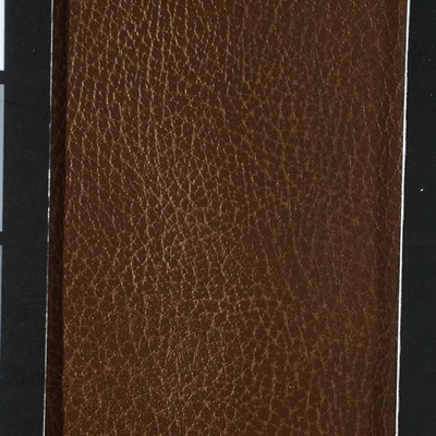 4.05 Yard Piece of Faux Leather Vinyl Fabric | Two Toned Brown Medium Grain | Felt-Backed | Upholstery / Bag Making | 54 Wide
