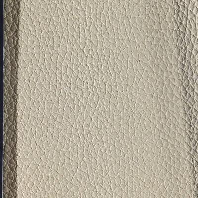 2.55 Yard Piece of Faux Leather Vinyl Fabric   Beige Medium Grain   Upholstery / Bag Making   54 Wide