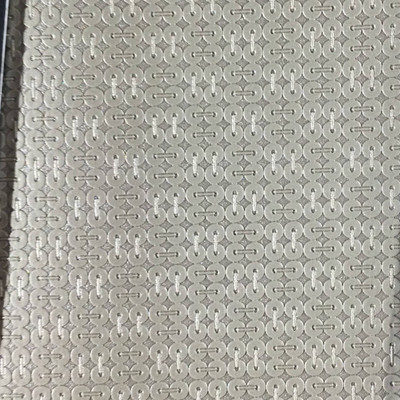 1.8 Yard Piece of Vinyl Fabric | Gray Geometric Texture | Upholstery / Bag Making | 54 Wide