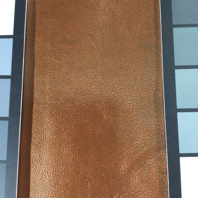 1 Yard Piece of Faux Leather Vinyl Fabric   Copper Medium Grain   Felt-Backed   Upholstery / Bag Making   54 Wide