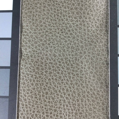 1.6 Yard Piece of Faux Leather Vinyl Fabric | Two Toned Taupe Heavy Grain | Felt-Backed | Upholstery / Bag Making | 54 Wide
