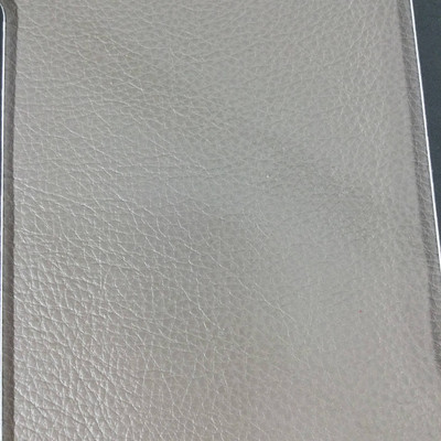 3.4 Yard Piece of Faux Leather Vinyl Fabric | Taupe Medium Grain | Upholstery / Bag Making | 54 Wide