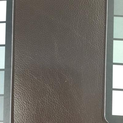 3.4 Yard Piece of Faux Leather Vinyl Fabric | Dark Brown Medium Grain | Upholstery / Bag Making | 54 Wide