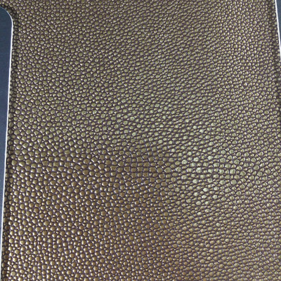 1.8 Yard Piece of Faux Leather Vinyl Fabric | Bronze Pebble Texture | Upholstery / Bag Making | 54 Wide