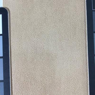 4.1 Yard Piece of Faux Leather Vinyl Fabric | Tan Medium Grain | Felt-Backed | Upholstery / Bag Making | 54 Wide