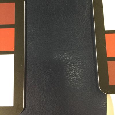 1.8 Yard Piece of Faux Leather Vinyl Fabric   Navy Blue Medium Grain   Felt-Backed   Upholstery / Bag Making   54 Wide