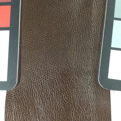 1.4 Yard Piece of Faux Leather Vinyl Fabric | Dark Brown Medium Grain | Felt-Backed | Upholstery / Bag Making | 54 Wide