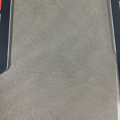 2.4 Yard Piece of Faux Leather Vinyl Fabric   Taupe Light Grain   Upholstery / Bag Making   54 Wide