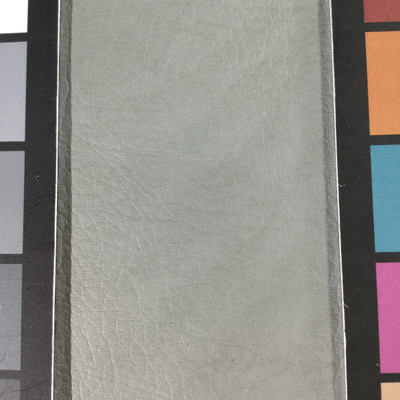 1.8 Yard Piece of Faux Leather Vinyl Fabric   Gray Medium Grain   Upholstery / Bag Making   54 Wide