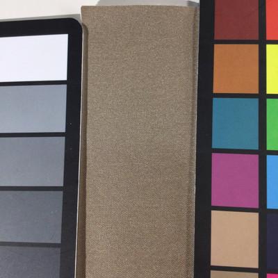 1.6 Yard Piece of Satin Finish Vinyl Fabric | Dark Beige Woven Texture | Upholstery / Bag Making | 54 Wide