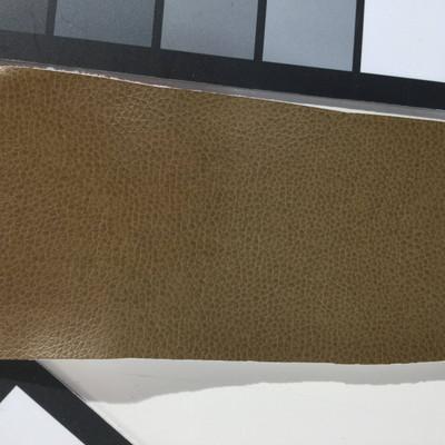 2.5 Yard Piece of Faux Leather Vinyl Fabric   Dark Tan Medium Grain   Felt-Backed   Upholstery / Bag Making   54 Wide