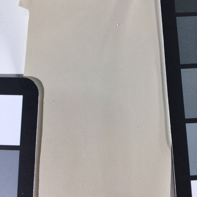 1.8 Yard Piece of Faux Leather Vinyl Fabric | Beige Lightly Textured | Felt-Backed | Upholstery / Bag Making | 54 Wide
