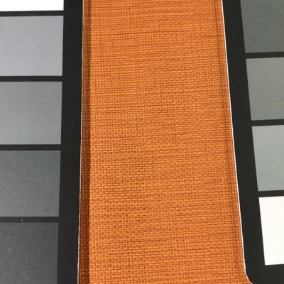 4.1 Yard Piece of Vinyl Fabric   Orange Woven Texture   Felt-Backed   Upholstery / Bag Making   54 Wide