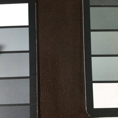1.8 Yard Piece of Faux Leather Vinyl Fabric | Dark Brown Light Grain | Felt-Backed | Upholstery / Bag Making | 54 Wide