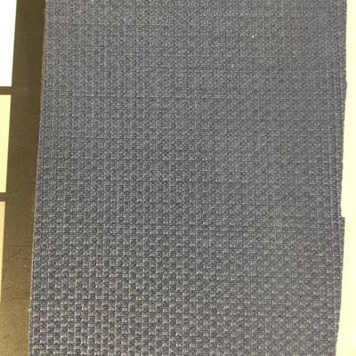 3.4 Yard Piece of Vinyl Fabric | Dark Blue Woven Texture | Felt-Backed | Upholstery / Bag Making | 54 Wide