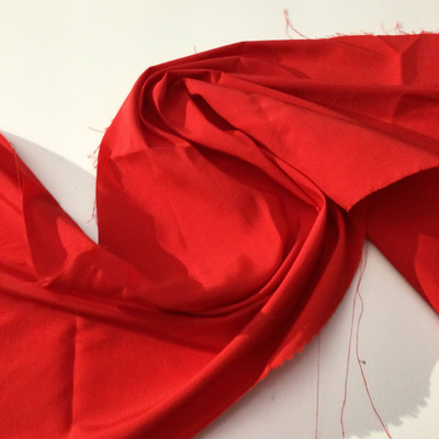 Safety Red Taffeta Fabric | Poly Blend | Apparel Special Occasion Dresses