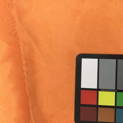 carrot orange organza fabric
