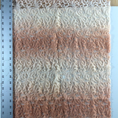 """Peach Ombre Lace Fabric 