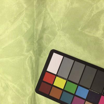 spring green organza fabric