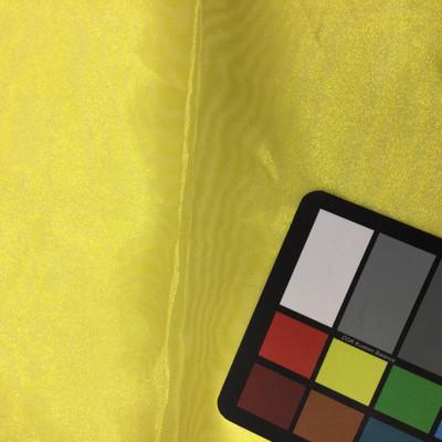 bright yellow organza fabric