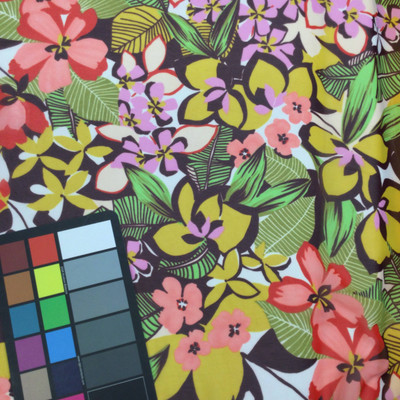tropical print chiffon fabric