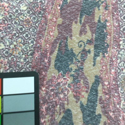floral camo tan burgundy mesh fabric